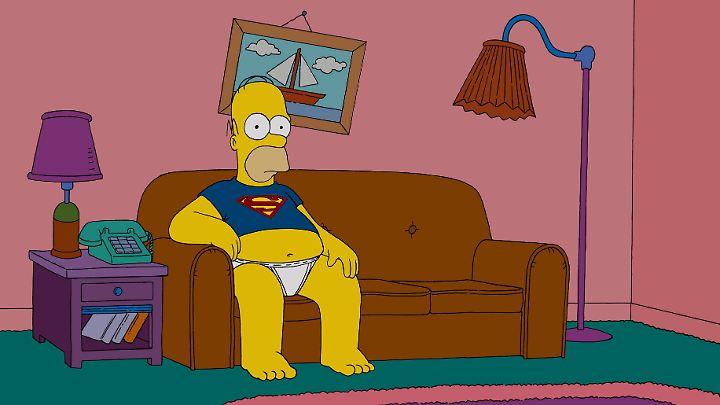"""Vom Durchschnittsamerikaner zum Trottel: Homer Simpson in einer Szene aus """"Die Simpsons - Der Film""""."""