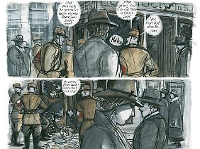 Die Jahre vergehen und Irmina erlebt den zunehmenden Terror des Nationalsozialismus, wie hier nach der Reichspogromnacht.