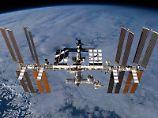 Die Internationale Raumstation (ISS) in der Erdumlaufbahn. Foto: Nasa/Archiv