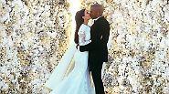 Zu diesem Bild braucht eigentlich gar nicht viel gesagt werden, auch wenn man die Gesichter des Brautpaars gar nicht richtig erkennt. Es sind natürlich Kim Kardashian und Kanye West - aber zu denen braucht in diesem Jahr vielleicht auch nicht mehr viel gesagt werden.