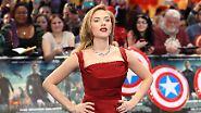"""Einen Platz auf dem Siegertreppchen sichert sich Scarlett Johansson. Als """"Black Widow"""" kämpft sie in """"The Return of the First Avenger"""" an der Seite des Marvel-Superhelden """"Captain America"""" …"""
