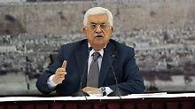 Abbas unterzeichnet ein Gesuch, um dem Internationalen Strafgerichtshof beizutreten.