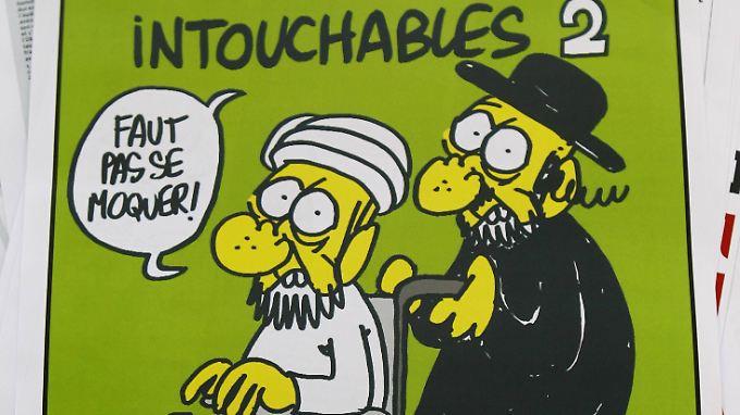 """""""Charlie Hebdo"""" schreckt nicht vor harter Religionssatire zurück."""