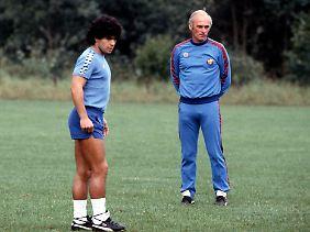 Ihr Verhältnis war gestört: Lattek und Maradona.