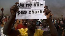 Er ist nicht Charlie: Demonstrant in Nigers Hauptstadt Niamey.