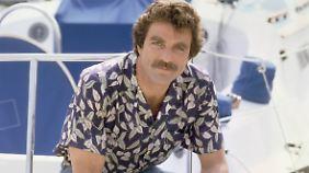 """Der einzige Nichteingeborene, bei dem Hawaii-Hemden sexy aussehen: US-Schauspieler Tom Selleck als """"Magnum""""."""