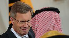 Diplomatisch die beste Lösung? Altbundespräsident Christian Wulff reist für Deutschland nach Saudi-Arabien.
