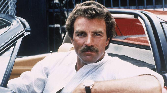 """Tom Selleck 1980 in seiner Paraderolle - als """"Magnum""""."""