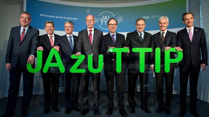 Selten bei einem Thema so einer Meinung: Konzernchefs deutscher Automobilkonzerne.
