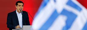Als Kandidat versprach er viel: Tsipras im Wahlkampfmodus.