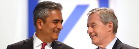 Anshu Jain (li.) uns Jürgen Fitschen werkeln an einer neuen Strategie für die Deutsche Bank.