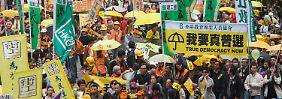 Für mehr Demokratie: Tausende Hongkonger demonstrieren wieder