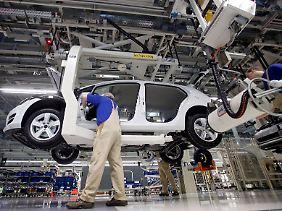 Fertigung im Zwickauer VW-Werk.