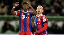 Neulich in Wolfsburg: Arjen Robben und David Alaba.