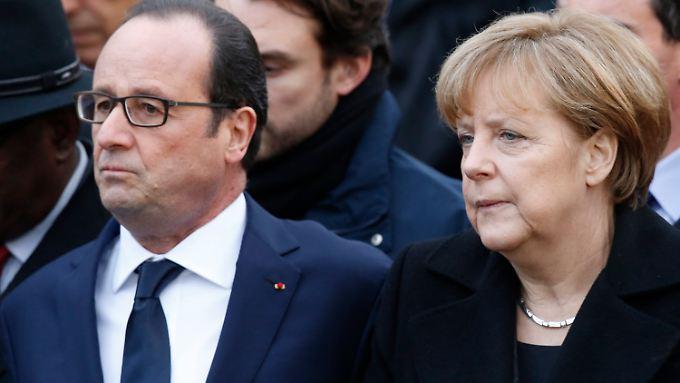 Nach einen frostigen Auftakt stimmt jetzt die Chemie zwischen Hollande und Merkel.