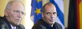 Differenzen bei Treffen in Berlin: Varoufakis und Schäuble reden nur