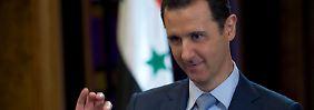 """Assad: """"Laut Verfassung und der Ethik des Amtes ist es Aufgabe des Präsidenten, das Land zu beschützen, wenn es angegriffen wird, nicht zu fliehen und wegzulaufen."""""""