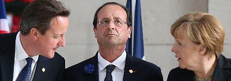 Zeitung enthüllt geheimes Papier: Merkel und Hollande kontern Cameron aus