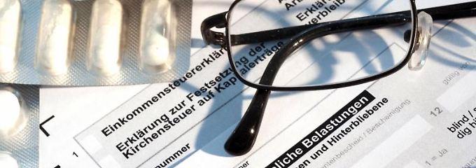 Steuerlich abzugsfähig sind auch Zuzahlungen zu rezeptpflichtigen Medikamenten.