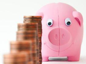 Sparschweine und Spardosen erfreuen sich großer Beliebtheit.