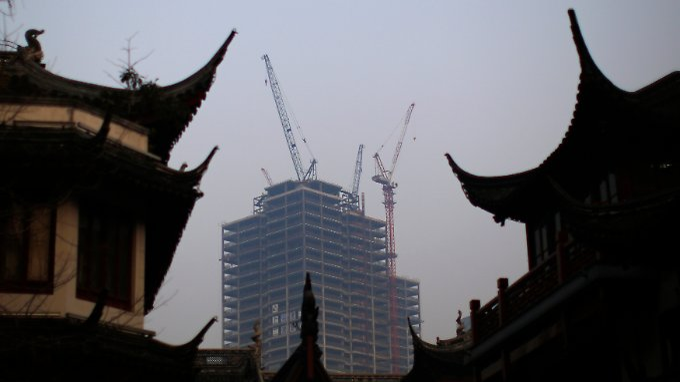 Chinas Wirtschaft wächst langsamer.