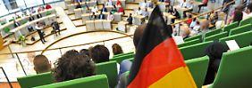 Einbürgerungsfeier im Sächsischen Landtag.