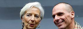 Und sie sprechen doch miteinander: Lagarde und Varoufakis diskutieren