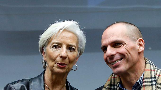 Werden den Ostersonntag nutzen, um über den Reformplänen zu brüten: Christine Lagarde und Yanis Varoufakis.