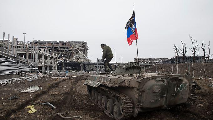 Der Flughafen von Donezk ist von den Kämpfen völlig zerstört.