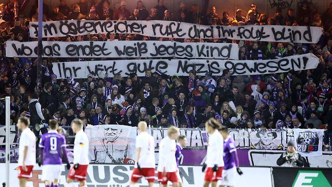 Aue-Fans Anfang Februar: Nazi-Beleidigungen gegen RB Leipzig