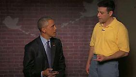 US-Präsident beweist Selbstironie: Obama stellt sich gemeinen Tweets