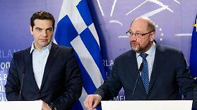 Zankapfel Griechenland: Schulz rät Tsipras zum Rauswurf der Rechtspopulisten