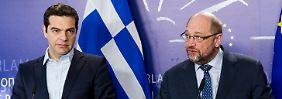 Zankapfel Griechenland: Schulz: Tsipras soll Rechtspopulisten rauswerfen