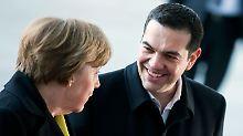 Gute Show im Kanzleramt: Tsipras bringt Merkel den Frühling