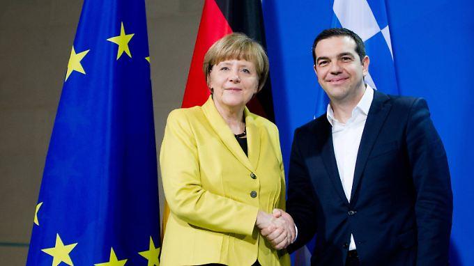 Angela Merkel und Alexis Tsipras im Kanzleramt.