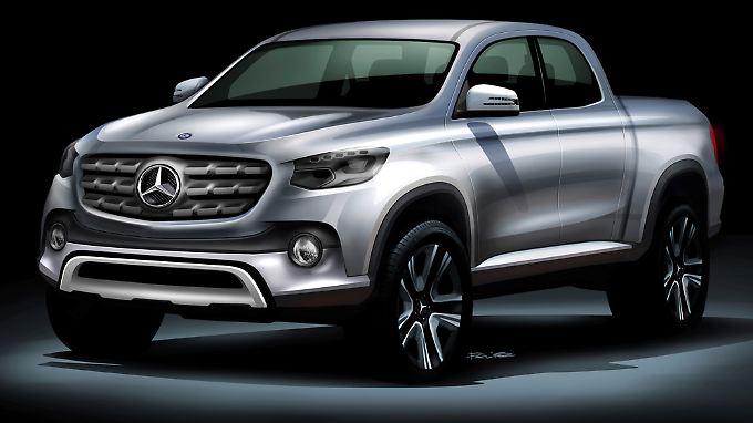 So könnte der neue Pick-up von Mercedes aussehen.