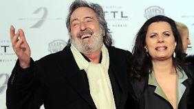 Mit seiner Frau Tamara Duve.