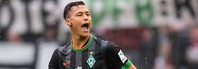 Acht Millionen für Nachwuchsstürmer: RB Leipzig schnappt sich Werder-Talent
