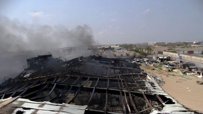 Das ist die bombardierte Milchfabrik.