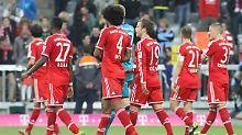 Heimniederlage: Der FC Bayern verliert am 12. April 2014 gegen die Dortmunder Borussia. Was man den Münchnern nicht ansieht: Sie standen da bereits als Meister fest.