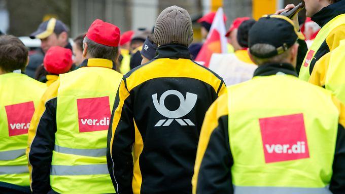 Mit Warnstreiks legte Verdi den Postverkehr in Deutschland bereits mehrfach in den vergangenen Monaten lahm.
