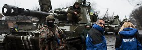 Der heikle Kampf der OSZE: Zwischen den Fronten in der Ostukraine