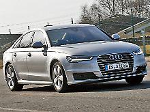 Nur dezente Retuschen schärfen das Gesicht des aktuellen Audi A6.