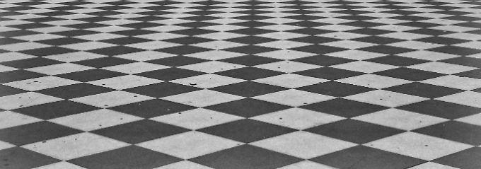 Die Terrazza Mascagni in Livorno im Schachbrettmuster: Mit dem  Schachbrett-Muster-Elektroretinogramm wurde ein Verfahren aus der Augenheilkunde benutzt.