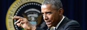 Obama zeigt sich erfreut über die Unterstützung von beiden Parteien des Kongresses.