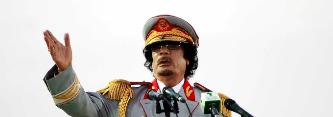 Bis 2011 Machthaber in Libyen: Muammar al-Gaddafi .
