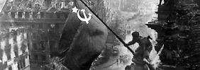 Heute vor 70 Jahren wurde die sowjetische Fahne auf dem Reichstag gehisst.