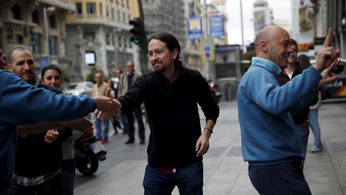 Pablo Iglesias ist in Spanien ein Star - aber hat er auch das Zeug zum Wahlsieger?