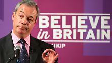 Nigel Farage muss sich nun doch keinen neuen Job suchen.