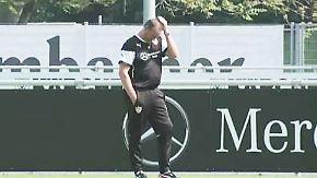 Abstiegskrimi in der Bundesliga: Emotionen von VfB-Coach Stevens fahren Achterbahn